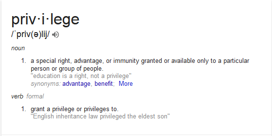 My Thoughts on Privilege